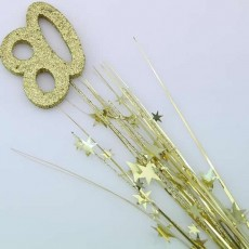80th Birthday Gold Number & Stars Foam Spray Spangle
