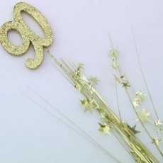 90th Birthday Gold Glittered Foam Spray & Stars Spangle