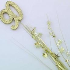 90th Birthday Gold Number & Stars Foam Spray Spangle