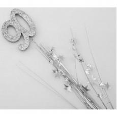 90th Birthday Silver Number & Stars Foam Spray Spangle