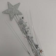 Silver 3D Star Foam Spray Spangle