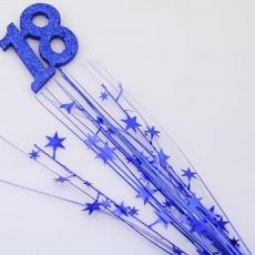 18th Birthday Blue Number & Stars Foam Spray Spangle