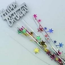 Happy Birthday Stars & Spray Foam Spangle