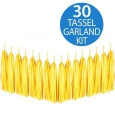 Yellow Tissue Paper Tassel Garland Hanging Decoration