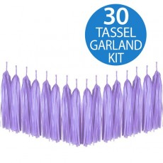 Lavender Lilac Tissue Paper Tassel Garland Hanging Decoration