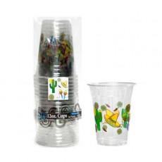 Caliente Clear Fiesta Plastic Cups