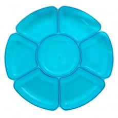 Blue Neon 7 Sections Platter