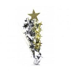 Multi Colour Gold & Silver Stars Foam Spray Spangle