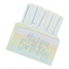 Pastel Party Happy Birthday Lunch Napkins 17cm x 15cm Pack of 16