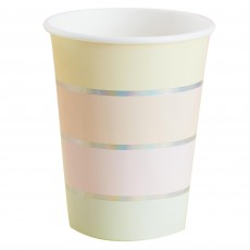 Pastel Party Paper Cups 266ml Pack of 8