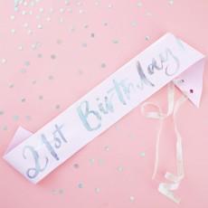 21st Birthday Party Supplies - Pastel Party Sash