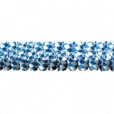 Check Blue & White Oktoberfest Bavarian Garland 16cm x 4m