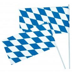 Oktoberfest Blue, White Flag 12cm x 23cm