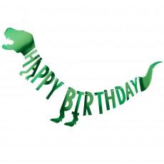 Dinosaur Roar Happy Birthday Banner 2m x 27cm