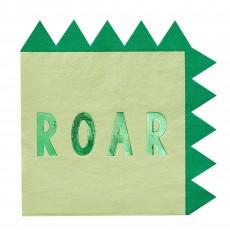 Dinosaur Roar Lunch Napkins 16cm x 16cm Pack of 16