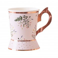 Lets Par Tea Tea Cup Shaped Paper Cups 266ml Pack of 8