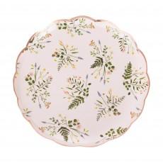 Lets Par Tea Floral Dinner Plates