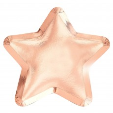 Twinkle Twinkle Rose Gold Star Shaped Dinner Plates