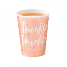 Rose Gold Foiled Twinkle Twinkle Little Star Paper Cups 266ml Pack of 8