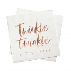 Foiled Twinkle Twinkle Little Star Lunch Napkins 16.5cm x 16.5cm Pack of 16