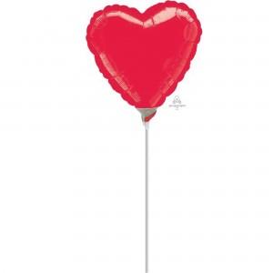 Love Metallic Red  Shaped Balloon