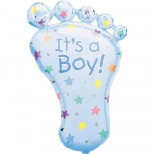 Baby Shower - General SuperShape XL Foot Shaped Balloon