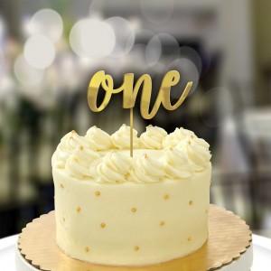 Girl's 1st Birthday Gold  Cake Topper