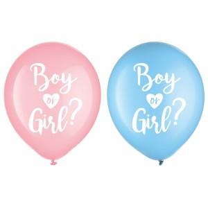 Gender Reveal Latex Balloons
