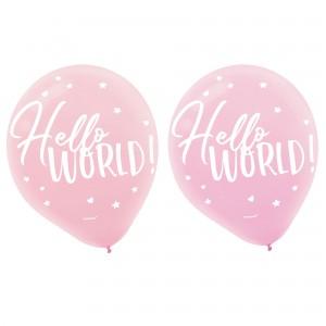 Oh Baby Girl Latex Balloons