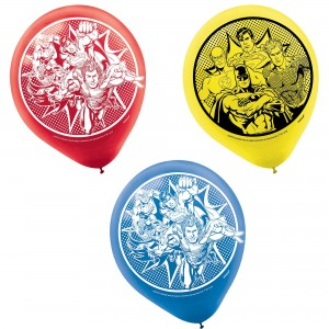 Justice League Heroes Unite Latex Balloons