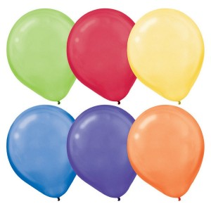 Multi Colour Pearl ed  Latex Balloons