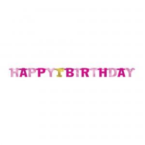 Girl's 1st Birthday Jointed Letter Banner