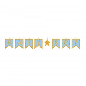 Baby Shower - General Glittered Clothespin Banner