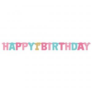 Girl's 1st Birthday Jumbo Foil Letter Banner