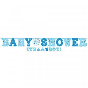 Shower with Love Boy Letter Banners