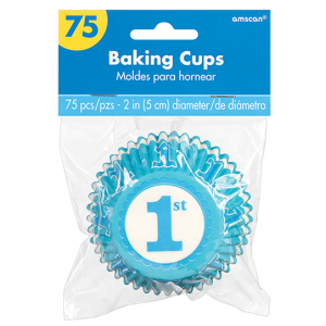 Boy's 1st Birthday Blue Standard Cupcake Cases