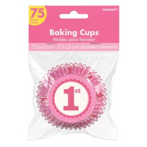 Girl's 1st Birthday Pink Standard Cupcake Cases