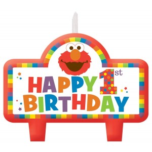 Elmo Turns One Birthday Set of Candles
