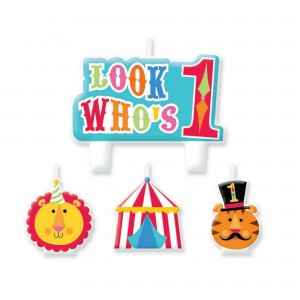 Fisher Price 1st Birthday Circus Mini Moulded Candles