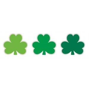 St Patrick's day Mini Glittered Shamrock Cutouts