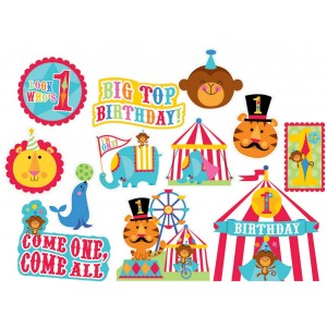 Fisher Price 1st Birthday Circus Value Pack Cutouts