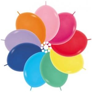 Multi Colour Fashion ed  Link O Loon Latex Balloons