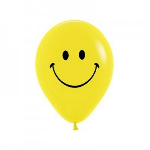 Emoji Yellow Smiley Face Latex Balloons