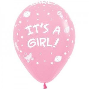Baby Shower - General Fashion Pink  Latex Balloons