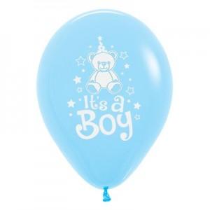 Baby Shower - General Fashion Light Blue Teddy Latex Balloons
