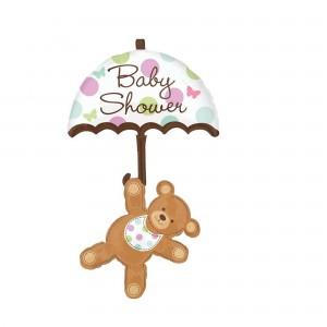 Baby Shower - General Multi-Balloon XL Umbrella Bear Shaped Balloon