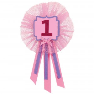 Girl's 1st Birthday Ribbon Award