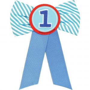 Boy's 1st Birthday Ribbon Award