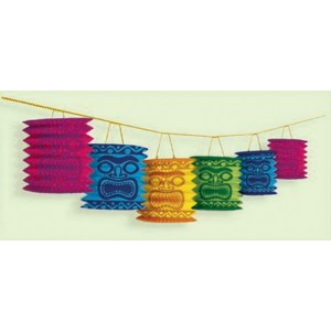 Hawaiian Luau Tiki Lantern Garland