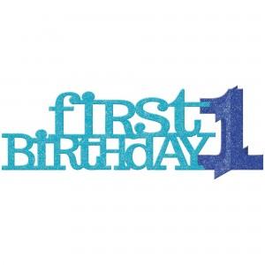 Boy's 1st Birthday Glittered Centrepiece